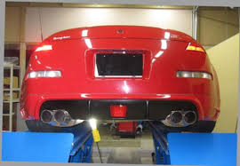 nissan 350z back bumper new tommy kaira 350z z33 rear valence and exhaust corner balance