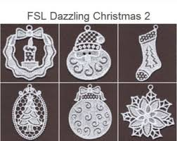fsl dazzling ornament free standing lace machine