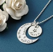 I Love You To The Moon And Back Personalized Necklace I Love You To The Moon With Star Charm Stamped Jewelry To The