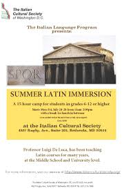 latin classes for beginners italian cultural society of