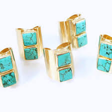 turquoise birthstone statement rings inbal mishan jewelry