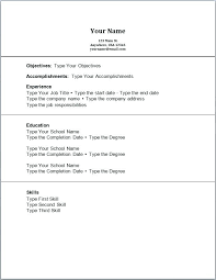 resume template no work experience resume for with no work experience template high school