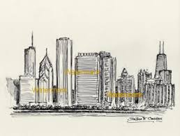 drawn skyline pen pencil and in color drawn skyline pen