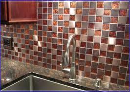 copper backsplash kitchen glass tile backsplash