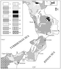 Calabria Italy Map by Chemical And Minero Petrographic Features Of Plio Pleistocene Fine