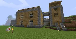simple design house minecraft project front view of the house