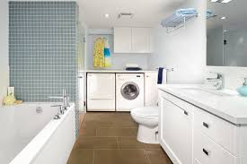 laundry in bathroom ideas armadale project basement bathroom laundry room contemporary