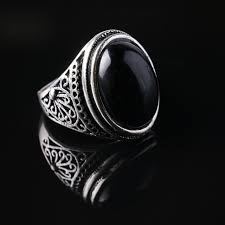 aliexpress buy 2015 new arrival mens ring fashion 2015 new design high quality black agate gem plate silver