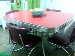 1950s chrome kitchen table and chairs 1950s chrome kitchen table and chairs vintage dinette set acme