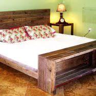 diy rustic wooden bed frame image of build wooden diy rustic