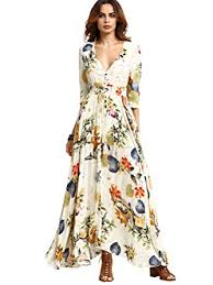 milumia women u0027s button up split floral print flowy party maxi