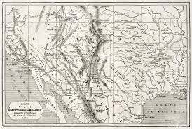 Old Mexico Map by Old Map Of Northern Mexico And South Western Usa Created By
