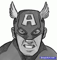 how to draw captain america easy step by step marvel characters