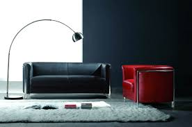 furniture awesome leather sofa for living room with black and