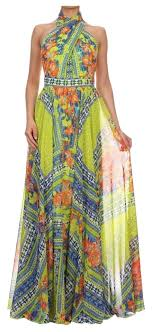 va va voom dresses va va voom printed sleeveless a line maxi dress