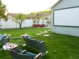 How To Make A Backyard Movie Theater Make A Backyard Movie Theater Video Hgtv