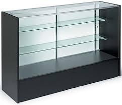 Retail Desk 5 Foot Wide Checkout Counter Showcase Black Melamine