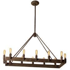 Rectangular Iron Chandelier Urban Loft Industrial Rectangular Chandelier Shades Of Light