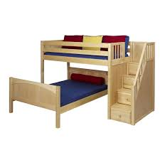 Appealing Full Bunk Beds With Stairs Berg Furniture Sierra Twin - Stairway bunk bed twin over full