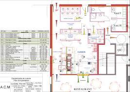 plans de cuisines plan cuisine professionnelle normes amazing conception de restaurant