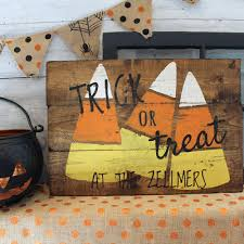 18x24 wooden candy corn sign halloween signs board and brush