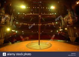 set of jesus christ superstar at the lyceum theatre in london the