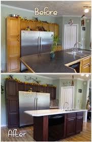 DIY Staining Kitchen Cabinets Dark Espresso Im Going To Try This - Basic kitchen cabinets