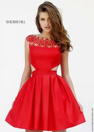 sherri hill 9756 cut out cocktail dress homecoming dresses
