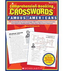 comprehension boosting crosswords famous americans by sylvia