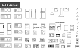 Kitchen Drawings Kitchen Equipment Cad Blocks Drawings Free Download