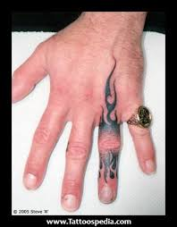 Finger Tribal - tribal finger tattoos