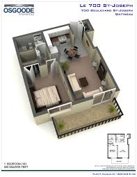 Bachelor Apartment Floor Plan by 700 St Joseph Gatineau Hull Rentquebecapartments Com
