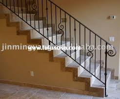 glamorous metal stair railing indoor 16 on home design pictures