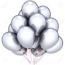 metallic balloons metallic silver x10