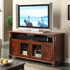 Badcock Lake Worth Fl by Riverside Furniture Dunmore 60 Inch Tv Console With 2 Glass Doors