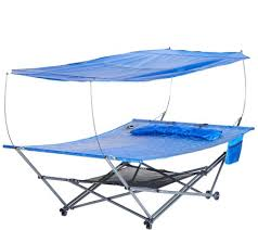 bliss hammocks 2 person stow ez hammock with canopy page 1 u2014 qvc com