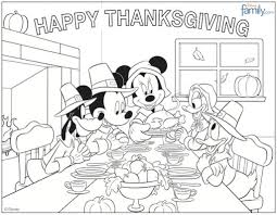 mickey mouse thanksgiving coloring pages to invigorate to color an