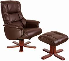 Leather Recliner Chair Uk Buy Gfa Shanghai Nut Brown Bonded Leather Swivel Recliner Chair