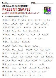 awesome collection of esl present tense worksheets with layout