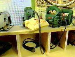 Tool Storage Shelves Woodworking Plan by Power Tools Storage Shelves