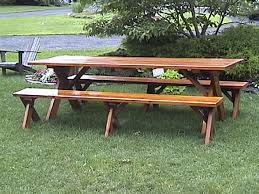 picnic table with separate benches picnic table plans free separate benches download page picnic table