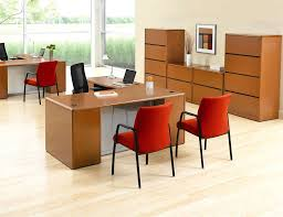 cool retro home office decorating with l shape wooden office desk