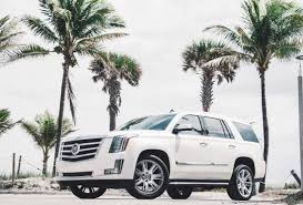 renting a cadillac escalade rent a cadillac escalade in miami fort lauderdale or