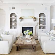 odern white sofa blue glass shelves rustic living room ideas on a