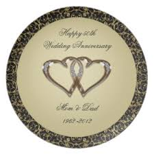 50th anniversary plate for 50th anniversary plates zazzle co uk