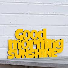 Good Morning Sunshine Meme - good morning sunshine you are my sunshine wood quote sign