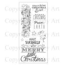merry little christmas hobby art clear sets clear stamps