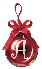 ganz initial ornament a glass