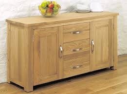 warwick oak double door 3 drawer large sideboard