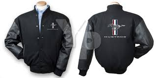 ford mustang jacket ford mustang tribar running wool leather varsity letterman